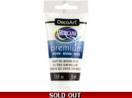 Gel Medium Premium Acrylic , DecoArt